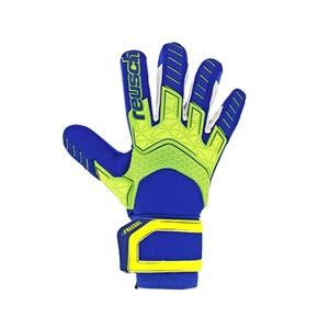 Reusch Attrakt Freegel S1 Ltd - Guantes de portero Reusch corte Evolution Negative Cut - azules y amarillo flúor - frontal