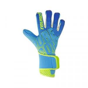 Reusch Pure Contact 3 AX2 - Guantes de portero profesionales para agua Reusch corte Evolution Negative Cut - azul celeste y verde - frontal