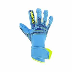Reusch Attrakt Pro AX2 Evolution NC Guardian - Guantes de portero Reusch con palma de agua - azul celeste - frontal derecho