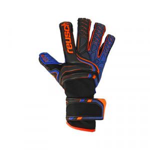 Reusch Attrakt G3 Fusion Evolution - Guantes de portero Reusch corte Evolution - negros y azules - frontal derecho