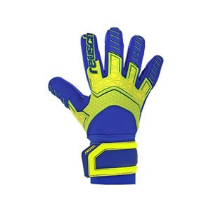 Reusch Attrakt Freegel G3 Fusion Ltd - Guantes de portero Reusch corte Evolution Negative Cut - azules y amarillo flúor - miniatura