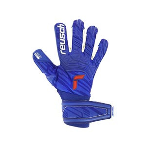 Reusch Attrakt Freegel Gold - Guantes de portero Reusch corte Evolution Negative Cut - azules - frontal