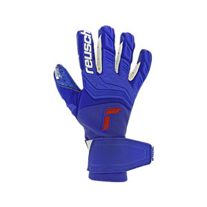 Reusch Attrakt Greegel Fusion Goaliator - Guantes de portero Reusch corte Evolution Negative Cut - azules - frontal