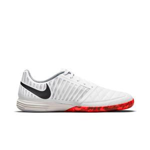 Nike Lunar Gato 2 - Zapatillas de fútbol sala Nike suela lisa IC- blancas - pie derecho