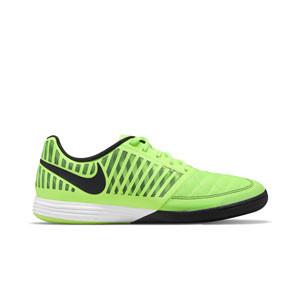 Nike Lunar Gato 2 - Zapatillas de fútbol sala de piel Nike con suela lisa IC - amarillas flúor - pie derecho