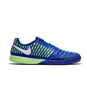 Nike Lunar Gato 2 - Zapatillas de fútbol sala Nike Lunar Gato FC247 - azules y amarillas