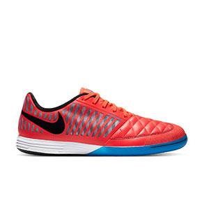 Nike Lunar Gato 2 - Zapatillas de fútbol sala Nike Lunar Gato FC247 - rojas y azules - derecho