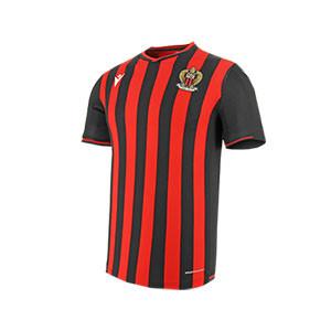 Camiseta Macron Niza 2019 2020 - Camiseta Macron primera equipación Niza 2019 2020 - negra y roja - frontal