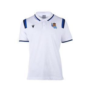 Polo Macron Real Sociedad paseo - Polo Macron Real Sociedad 2020 2021 - blanco - frontal
