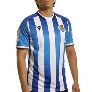 Camiseta Macron Real Sociedad 2021 2022 - Camiseta primera equipación Macron Real Sociedad 2021 2022 - azul, blanca