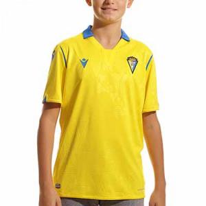 Camiseta Macron Cádiz CF niño 2021 2022 - Camiseta primera equipación infantil Macron del Cádiz CF 2021 2022 - amarilla