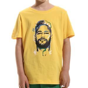 Camiseta Puma Neymar Jr Copa Graphic niño - Camiseta infantil de algodón Puma de Neymar Jr - amarilla - frontal