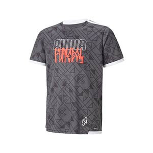 Camiseta Puma Neymar Jr Futebol niño - Camiseta infantil de calle Puma de Neymar Jr - gris