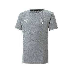 Camiseta Puma Neymar Jr Evostripe niño - Camiseta de calle Puma de Neymar Jr - gris