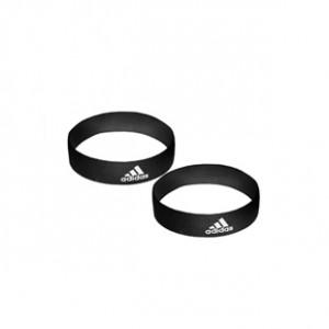 Sujeta medias adidas - Cintas sujeta medias talla única con velcro adidas (2 uds) - Negro - frontal conjunto
