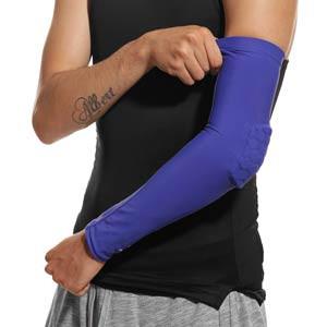 Manguitos portero protecció McDavid Elite Compression - Manguitos portero protección McDavid - azules - frontal