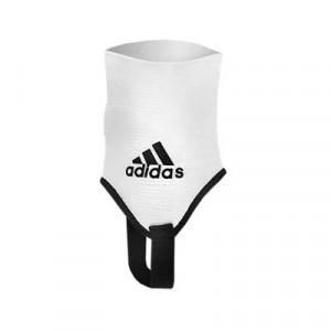 Tobilleras acolchadas adidas - Par de tobilleras contra los impactos adidas - Blanco - logo