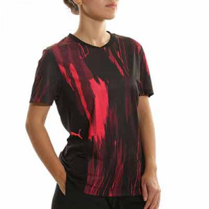 Camiseta Puma individualCUP mujer Graphic - Camiseta de entrenamiento de fútbol para mujer Puma - negra, roja