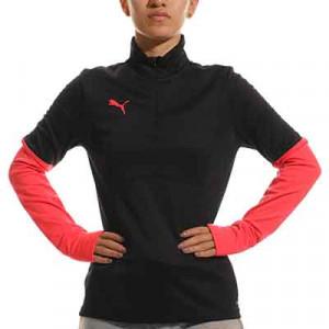 Sudadera Puma individualCUP mujer - Sudadera de mujer de entrenamiento de fútbol Puma - negra, roja