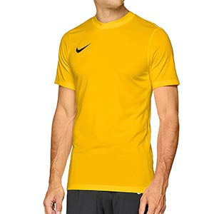 Camiseta entreno Nike Dry Football - Camiseta manga corta de entrenamiento Nike - dorada - frontal