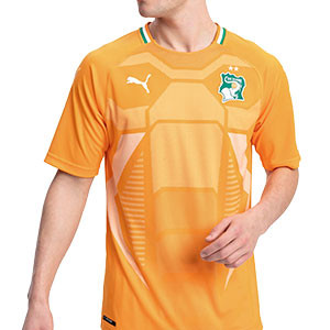Camiseta Puma Costa de Marfil 2018 2019 - Camiseta Puma primera equipación Costa de Marfil 2018 2019 - naranja - frontal