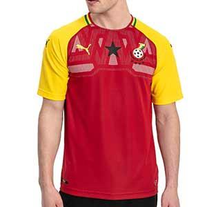 Camiseta Puma 1a Ghana 2018 - Camiseta oficial primera equipación selección Ghana 2018 - Rojo / Amarillo - frontal