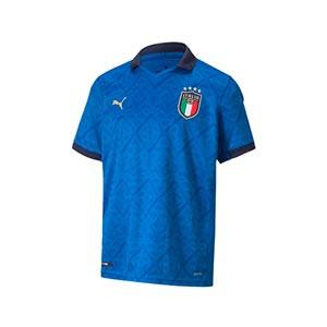 Camiseta Puma Italia niño 2021 - Camiseta infantil primera equipación Puma de la selección italiana 2021 - azul