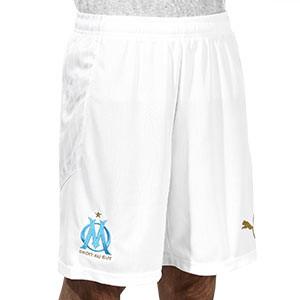 Short Puma O Marsella 2020 2021 - Pantalón corto primera equipación Olympique de Marsella 2020 2021 - blanco - frontal