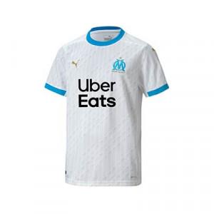 Camiseta Puma niño O Marsella 2020 2021 - Camiseta primera equipación infantil Olympique de Marsella 2020 2021 - blanca - frontal