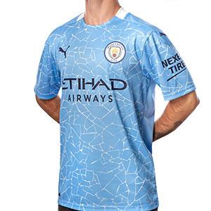 Camiseta Puma Manchester City 2020 2021 - Camiseta Puma de la primera equipación del Manchester City 2020 2021 - azul celeste - frontal