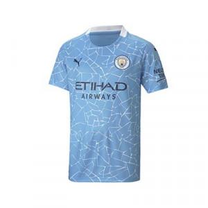 Camiseta Puma niño Manchester City 2020 2021 - Camiseta Puma primera equipación infantil del Manchester City 2020 2021 - azul celeste - frontal