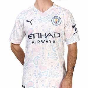 Camiseta Puma Manchester City 3a 2020 2021 - Camiseta Puma de la tercera equipación del Manchester City 2020 2021 - blanca - frontal