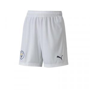 Short Puma niño Manchester City 2020 2021 - Pantalón corto infantil primera equipación del Manchester City 2020 2021 - blanco - frontal