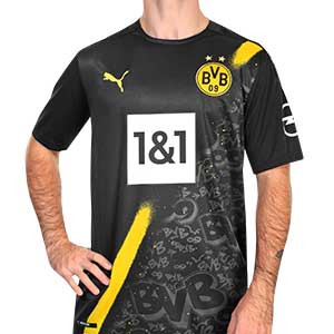Camiseta Puma 2a Borussia Dörtmund 2020 2021 - Camiseta segunda equipación Puma Borussia Dörtmund 2020 2021 - negra - frontal