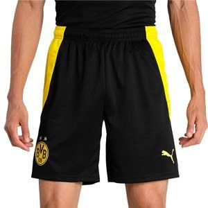 Short Puma Borussia Dörtmund 2020 2021 - Pantalón corto Puma primera equipación BVB 2020 2021 - negro - frontal