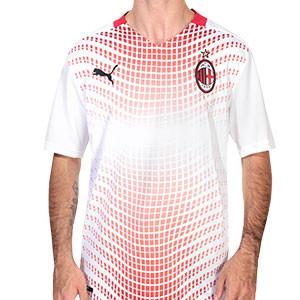 Camiseta Puma 2a AC Milan 2020 2021 - Camiseta segunda equipación Puma AC Milan 2020 2021 - blanca y roja - frontal