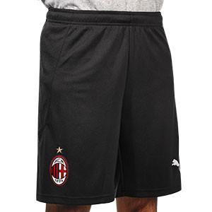 Short Puma AC Milan 2020 2021 - Pantalón corto primera equipación AC Milan 2020 2021 - negro - frontal