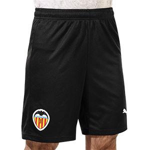 Short Puma Valencia 2020 2021 - Pantalón corto primera equipación Puma Valencia CF 2020 2021 - negro - frontal