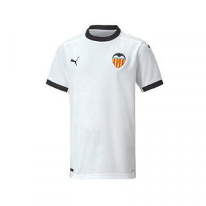 Camiseta Puma Valencia niño 2020 2021 - Camiseta primera equipación infantil Puma Valencia CF 2020 2021 - blanca - frontal