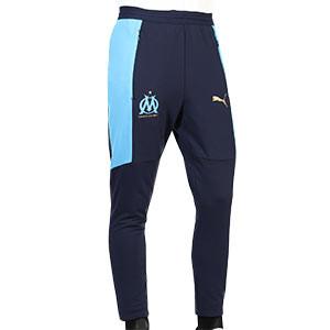 Pantalón Puma O Marsella entreno 2020 2021 - Pantalón largo de entrenamiento del Olympique de Marsella 2020 2021 - azul marino - frontal