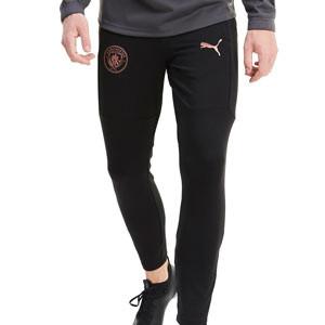 Pantalón Puma M City entreno 2020 2021 - Pantalón largo de entrenamiento del Manchester City 2020 2021 - negro - frontal
