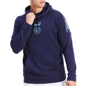 Sudadera Puma M City ftblCULTURE Hoody - Sudadera con capucha del Manchester City 2020 2021 - azul marino - frontal
