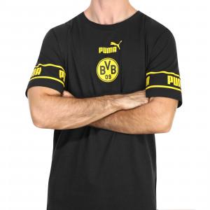 Camiseta Puma Borussia Dörtmund ftblCULTURE - Camiseta de algodón Puma del BVB 2020 2021 - negra - frontal