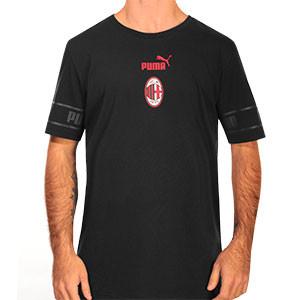 Camiseta Puma AC Milan ftblCULTURE - Camiseta de algodón Puma del AC Milan 2020 2021 - negra - frontal