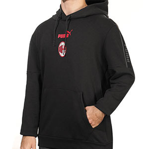 Sudadera Puma AC Milan ftblCulture Hoody - Sudadera con capucha del AC Milan 2020 2021 - negra - frontal