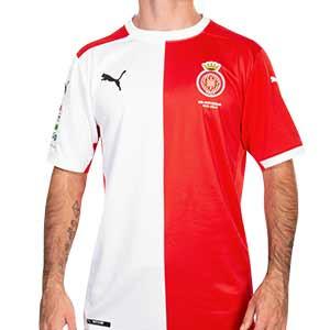 Camiseta Puma Girona FC 2020 2021 - Camiseta primera equipación Puma del Girona FC 2020 2021 - roja y blanca - frontal