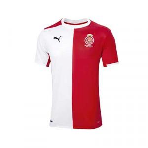Camiseta Puma Girona FC niño 2020 2021 - Camiseta primera equipación infantil Puma Girona FC 2020 2021 - roja y blanca - frontal