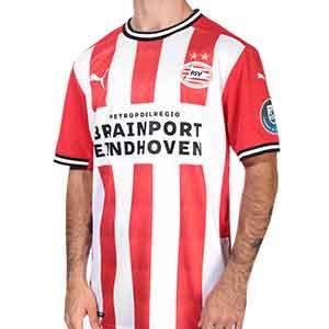 Camiseta Puma PSV 2020 2021 - Camiseta primera equipación Puma PSV Eindhoven 2020 2021 - roja y blanca - frontal