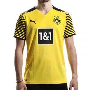 Camiseta Puma Borussia Dörtmund 2021 2022 - Camiseta primera equipación Puma del Borussia Dörtmund 2021 2022 - amarilla - miniatura frontal