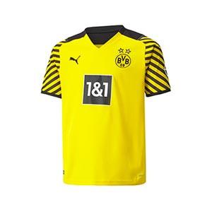 Camiseta Puma Borussia Dörtmund niño 2021 2022 - Camiseta primera equipación infantil Puma del Borussia Dörtmund 2021 2022 - amarilla - frontal